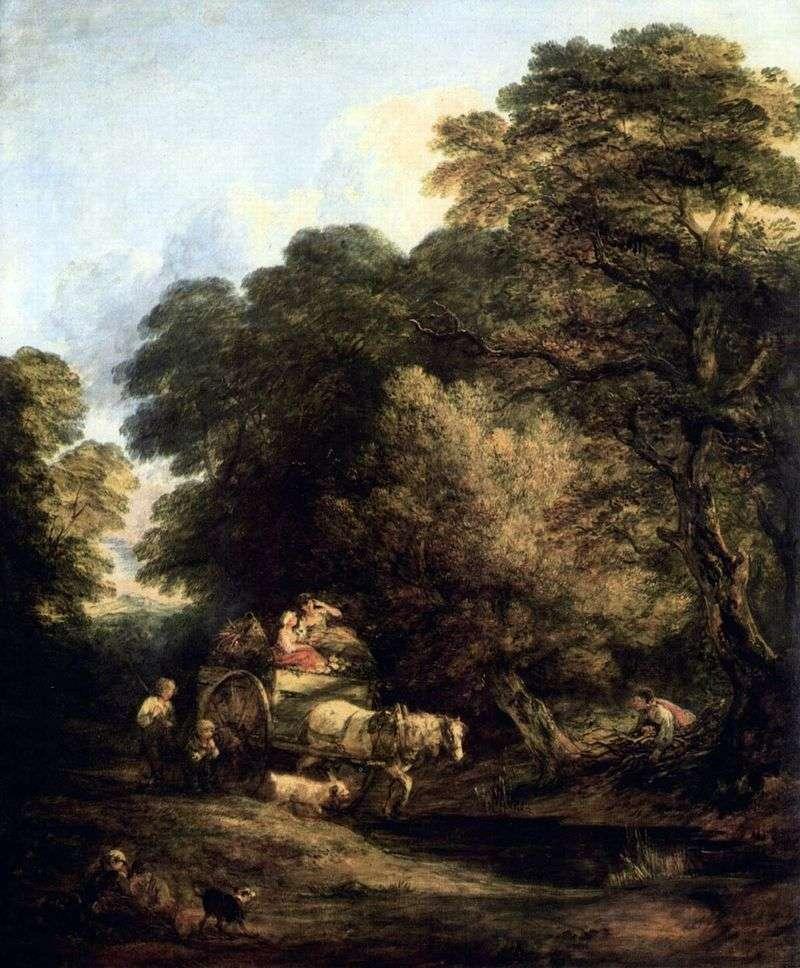 Market Wagon   Thomas Gainsborough