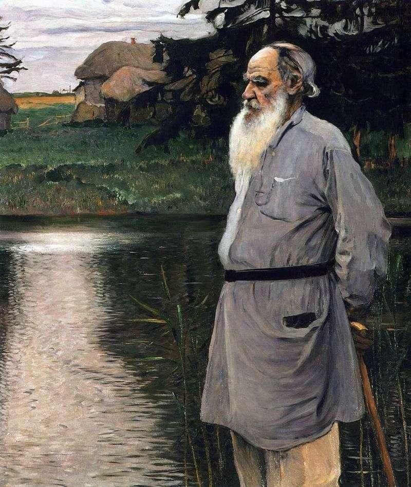 Portret L. Tołstoja   Michaił Niestierow