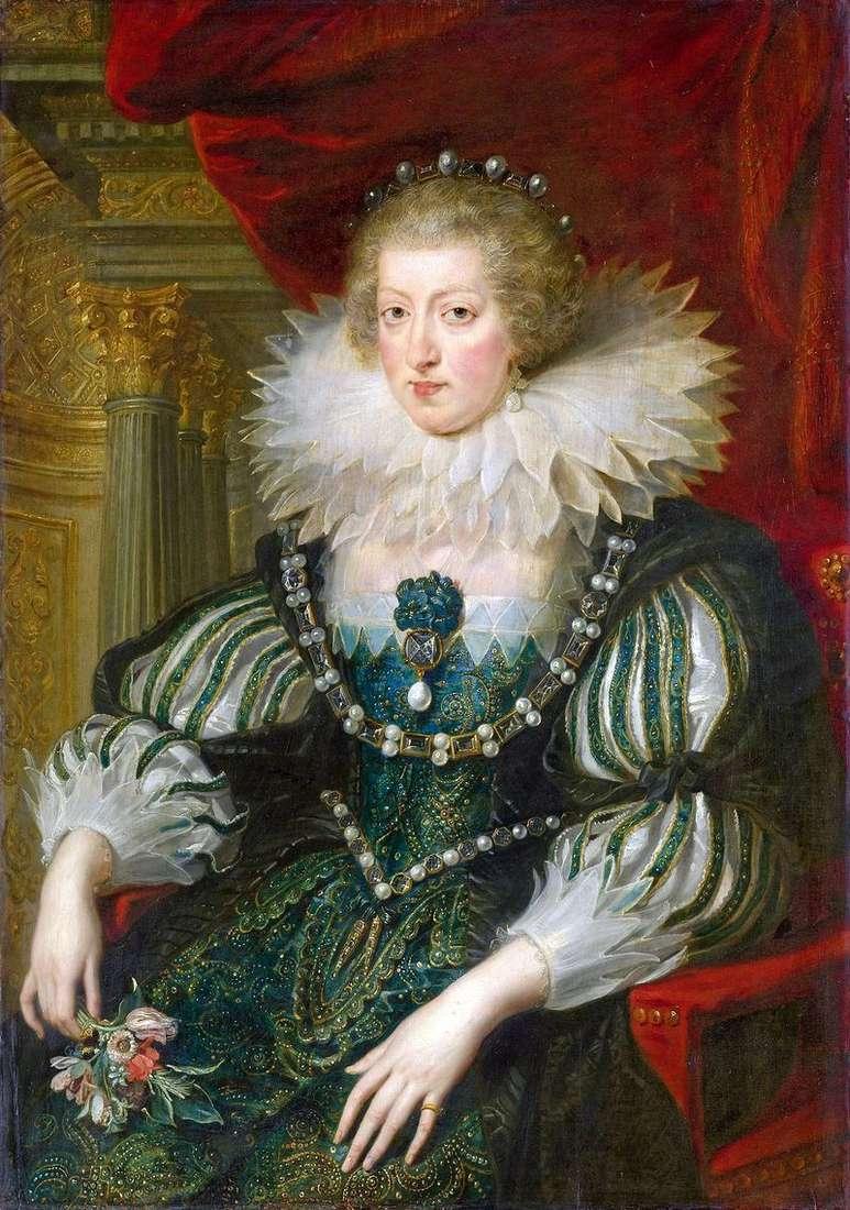 Portret Anny z Austrii   Peter Rubens