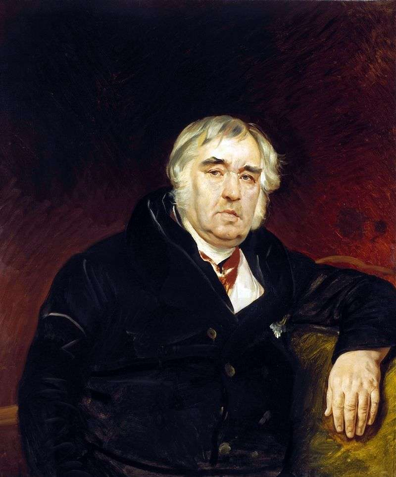 Portret baudysty I. A. Kryłowa   Karl Bryullov