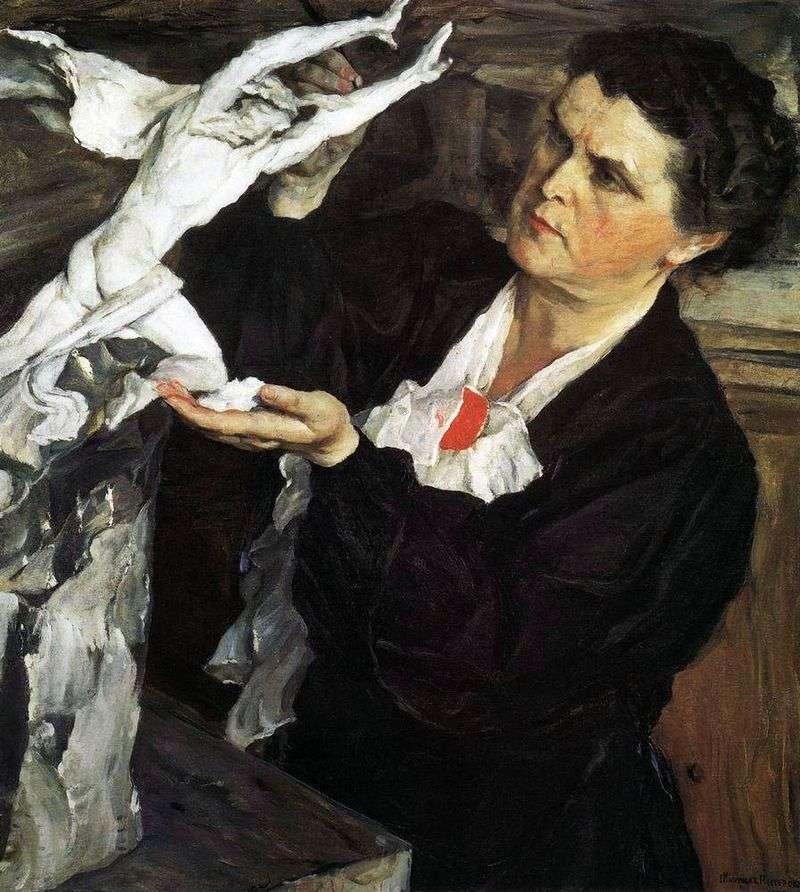 Portret rzeźbiarza V. I. Mukhina   Michaił Niestierow