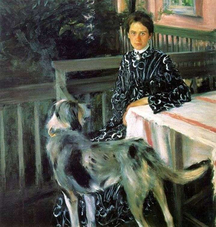 Portret żony Julii Kustodiyev   Borys Kustodiew