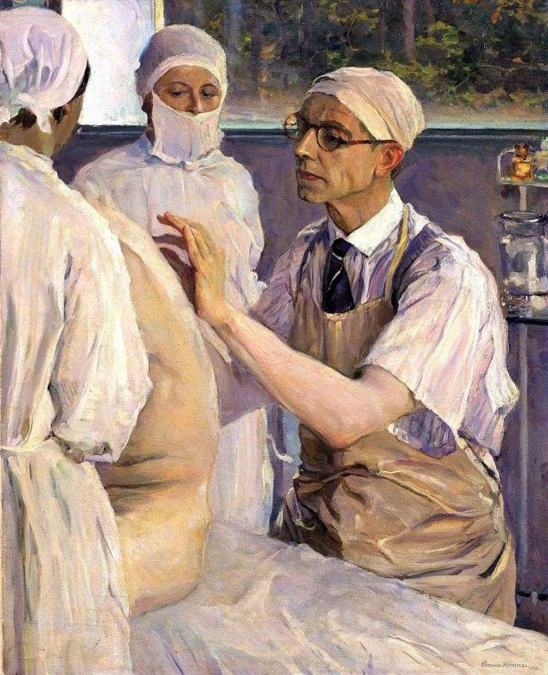 Portret chirurga Sergey Yudin   Mikhail Nesterov