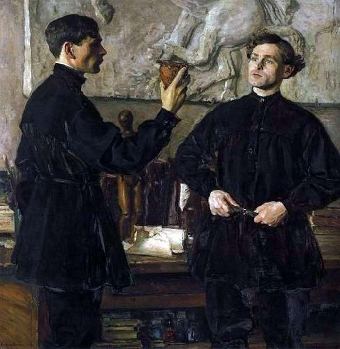Portret artystów P. D. i A. D. Korinykh   Mikhail Nesterov