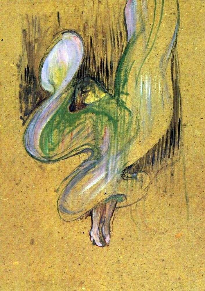 Studium litografii Loye Fullera w Foley Ber Gers   Henri de Toulouse Lautrec