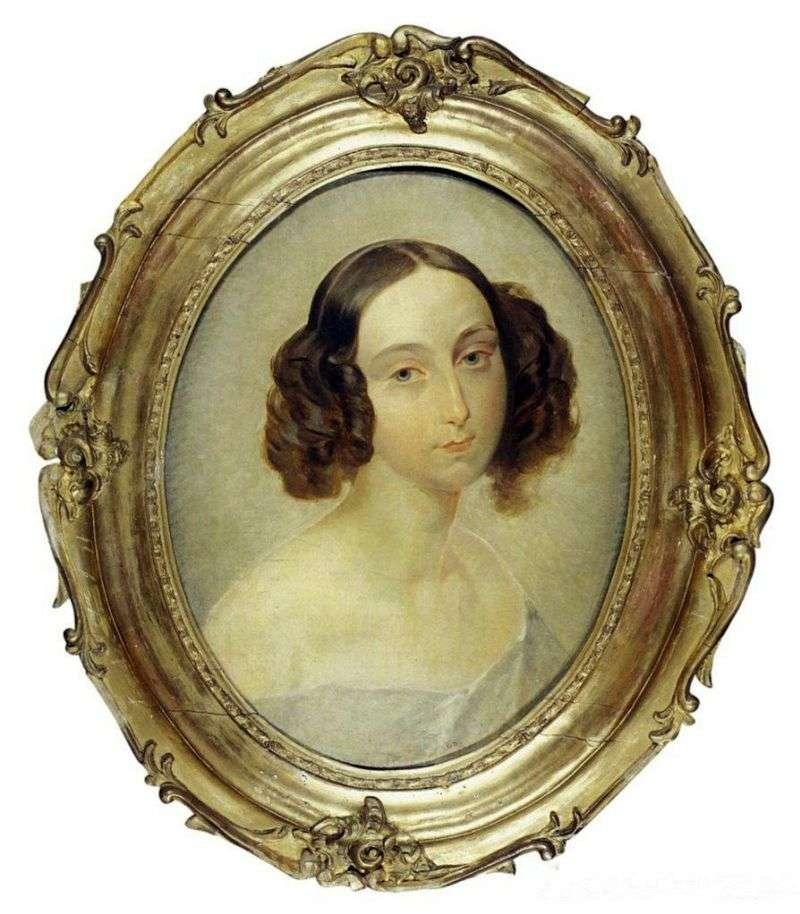 Portret wielkiej księżnej Olgi Nikołajewnej   Karola Bryulłowa