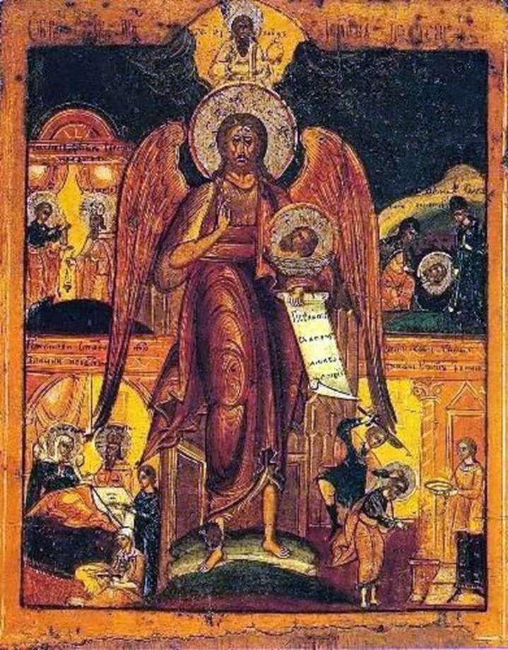 John the Baptist   Angel of the Desert, ze scenami życia
