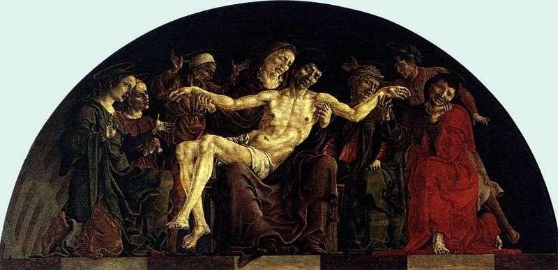 Pieta ze świętymi. Ołtarz Świętego Jerzego w Ferrarze   Cosimo Tura