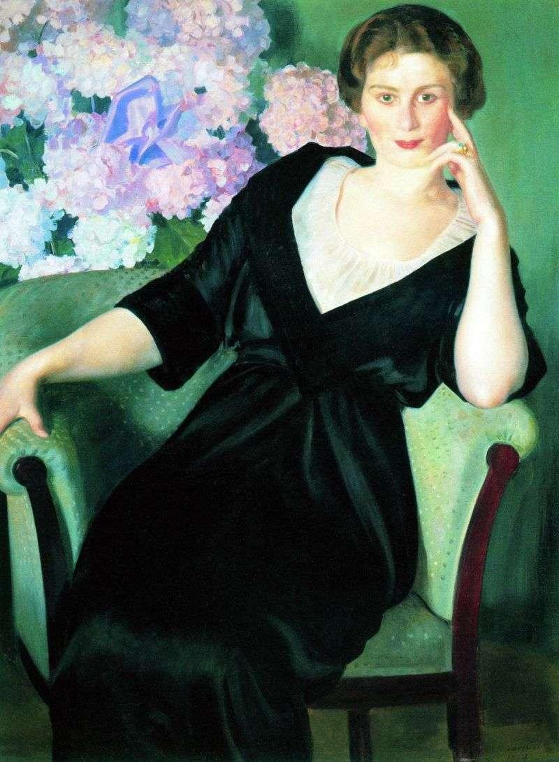 Portret R. I. Notgaft   Boris Kustodiew
