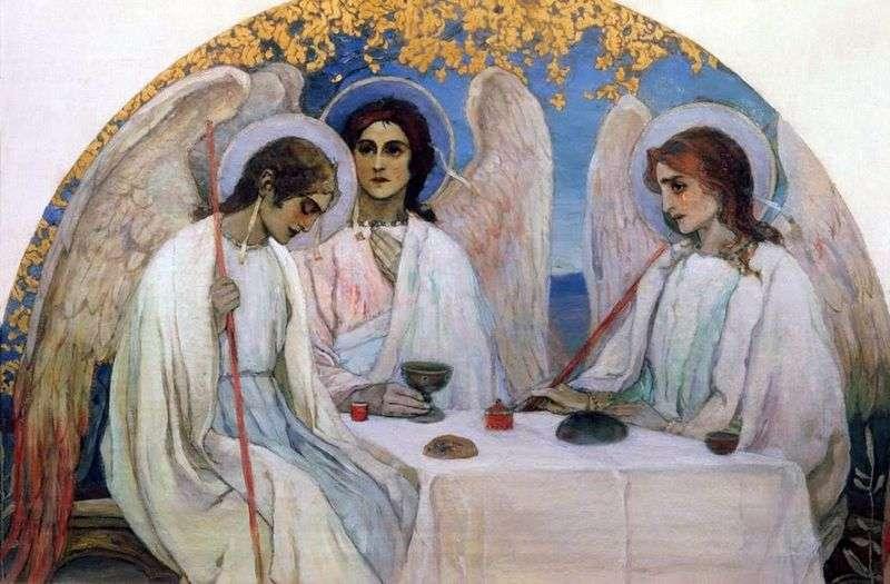 Stary Testament Trójcy   Mikhail Nesterov