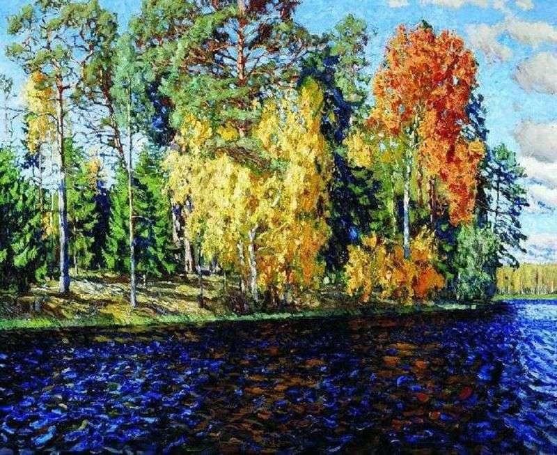 Forest Lake. Złota jesień (niebieska woda)   Stanisław Żukowski