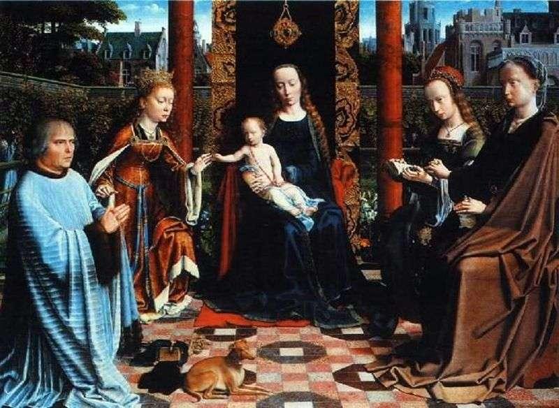 Madonna z Dzieciątkiem, Święci i Dawcy   David Gerard