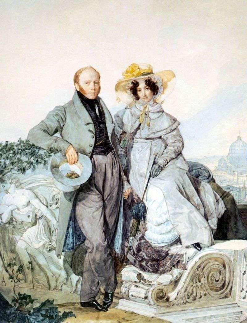 Portret G. N i V. A. Olenin   Karl Bryullov