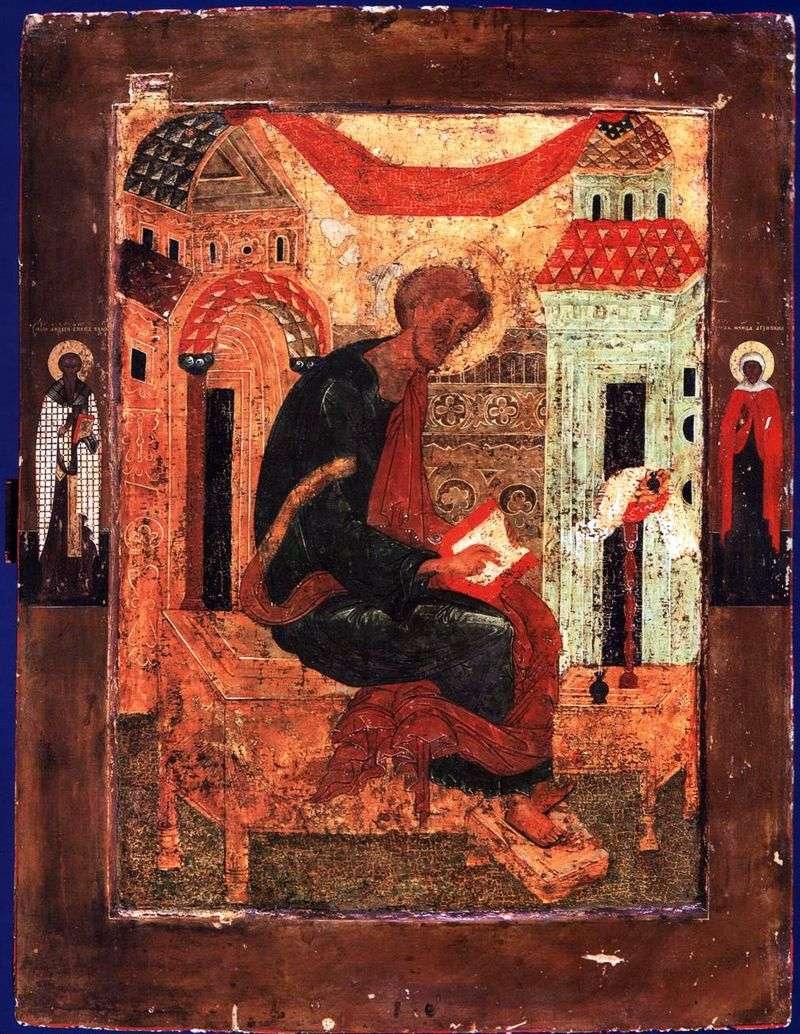 Łukasza Ewangelisty, ze świętymi na polach
