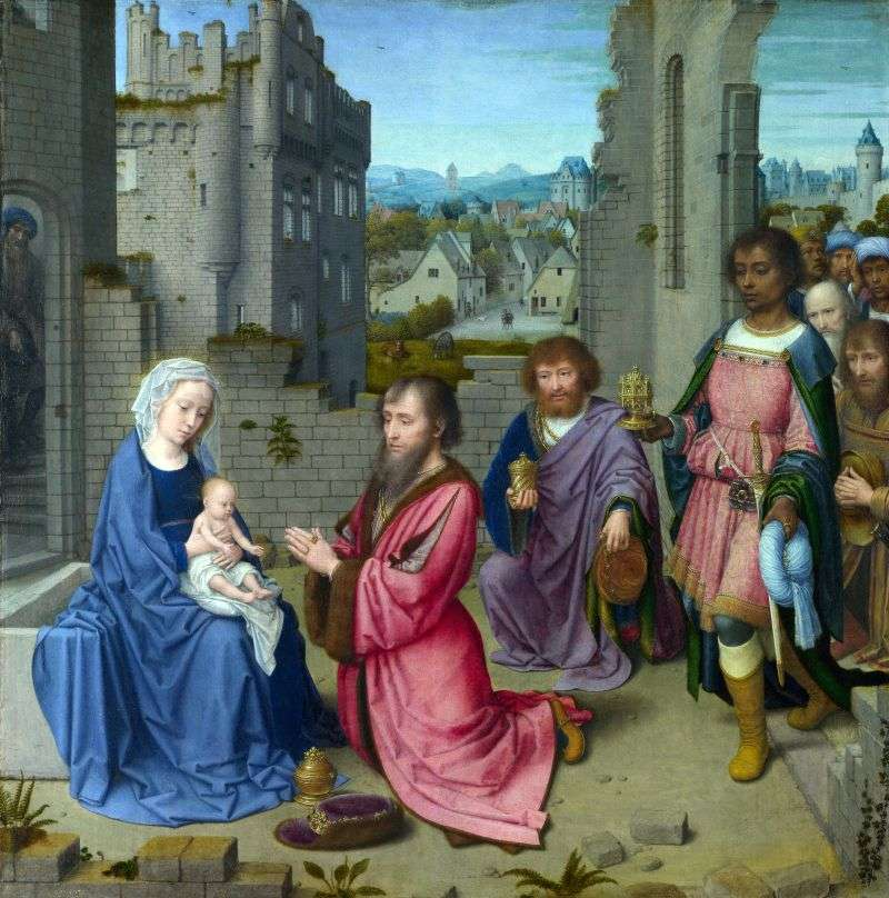 Pokłon Trzech Króli   Dawid Gerard