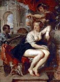 Batszeba przy fontannie   Peter Rubens