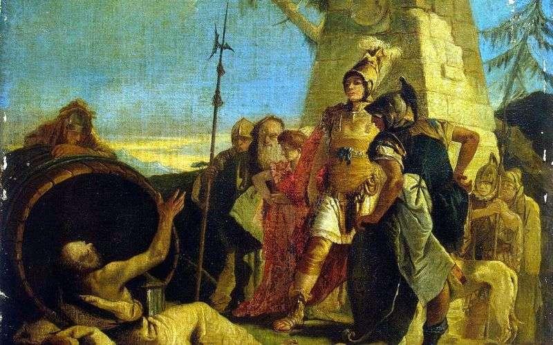 Aleksander Wielki i Diogenes   Giovanni Battista Tiepolo