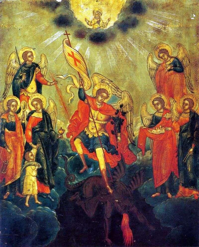 Obraz świętych siedmiu stopni Archanioła
