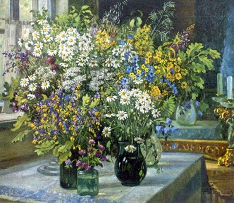Martwa natura Polne kwiaty   Alexander Gerasimov
