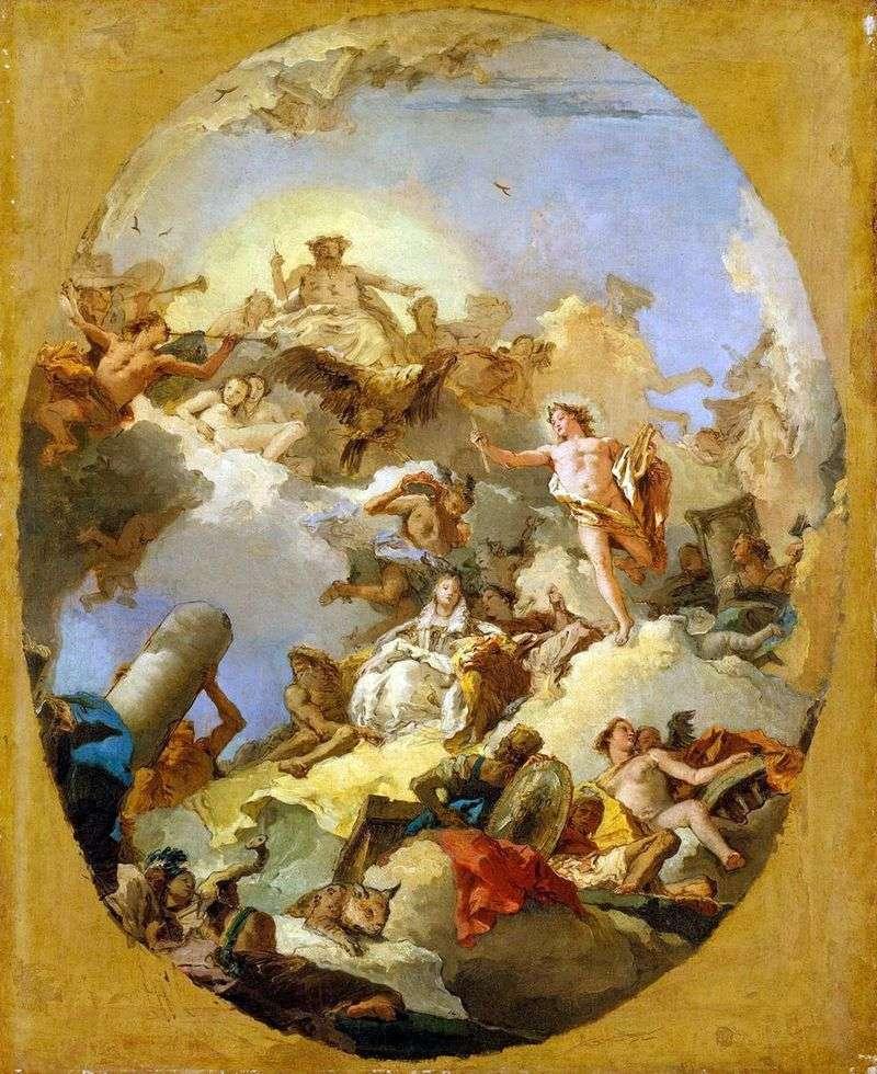 Apoteoza monarchii hiszpańskiej   Giovanni Battista Tiepolo