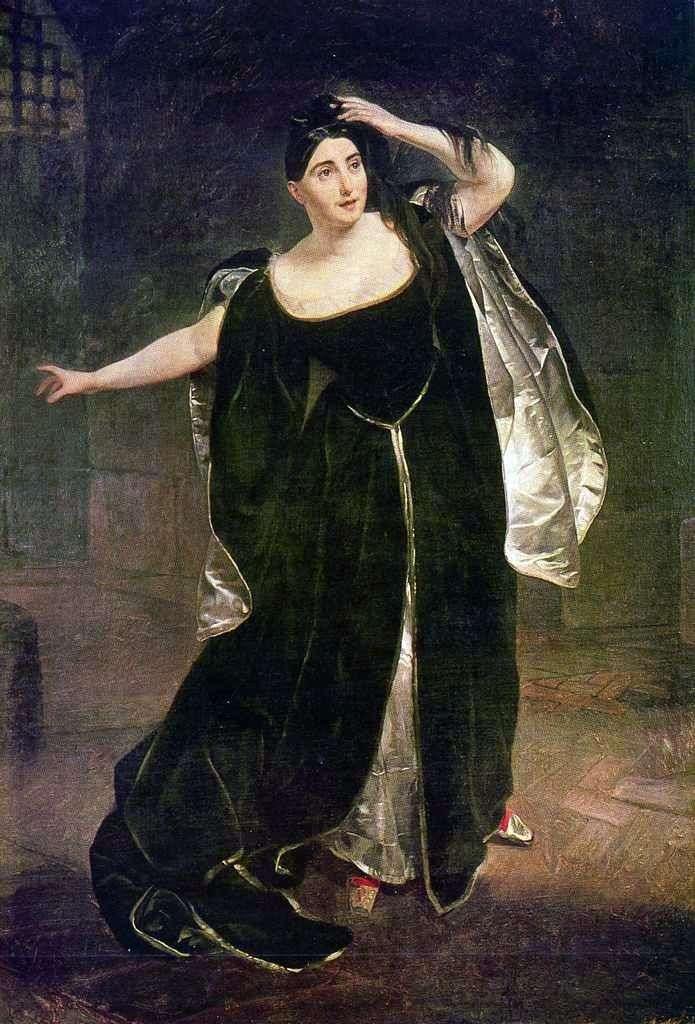 Portret Judith Pasta   Karl Bryullov