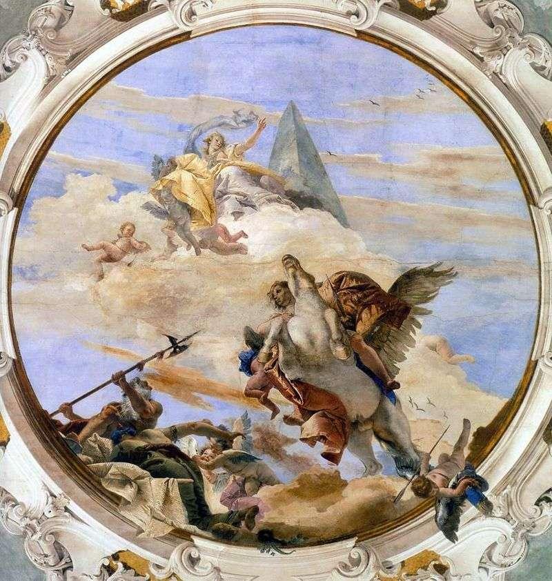 Bellerophon na Pegasusie   Giovanni Battista Tiepolo