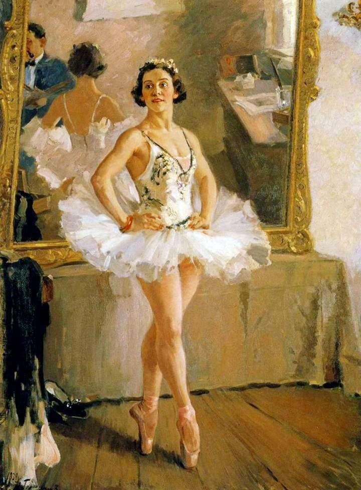 Portret baletnicy O. V. Lepeshinskaya   Alexander Gerasimov