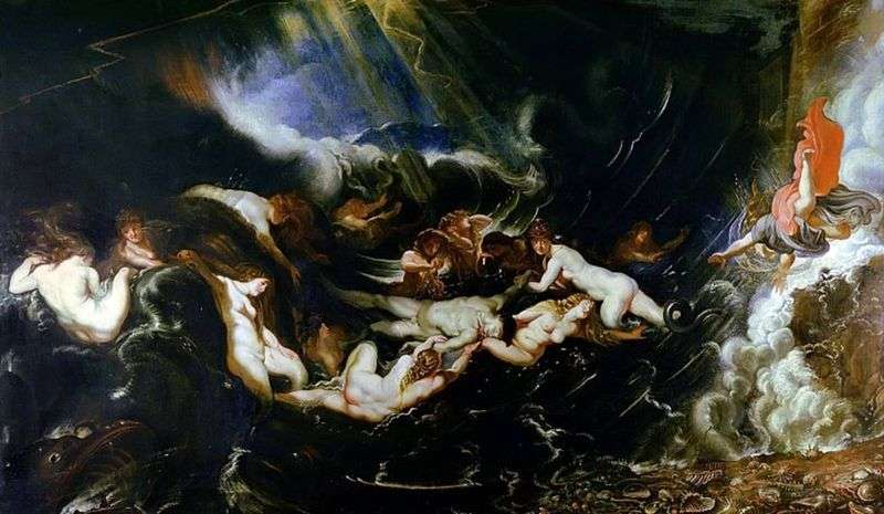 Bohater i Leander   Peter Rubens