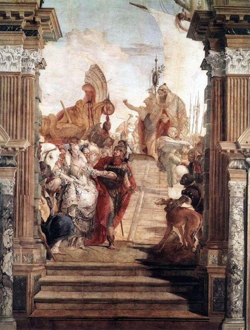 Spotkanie Anthonyego i Kleopatry   Giovanni Battista Tiepolo