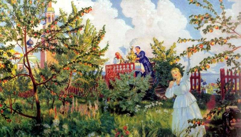 Ogród Apple   Boris Kustodiev
