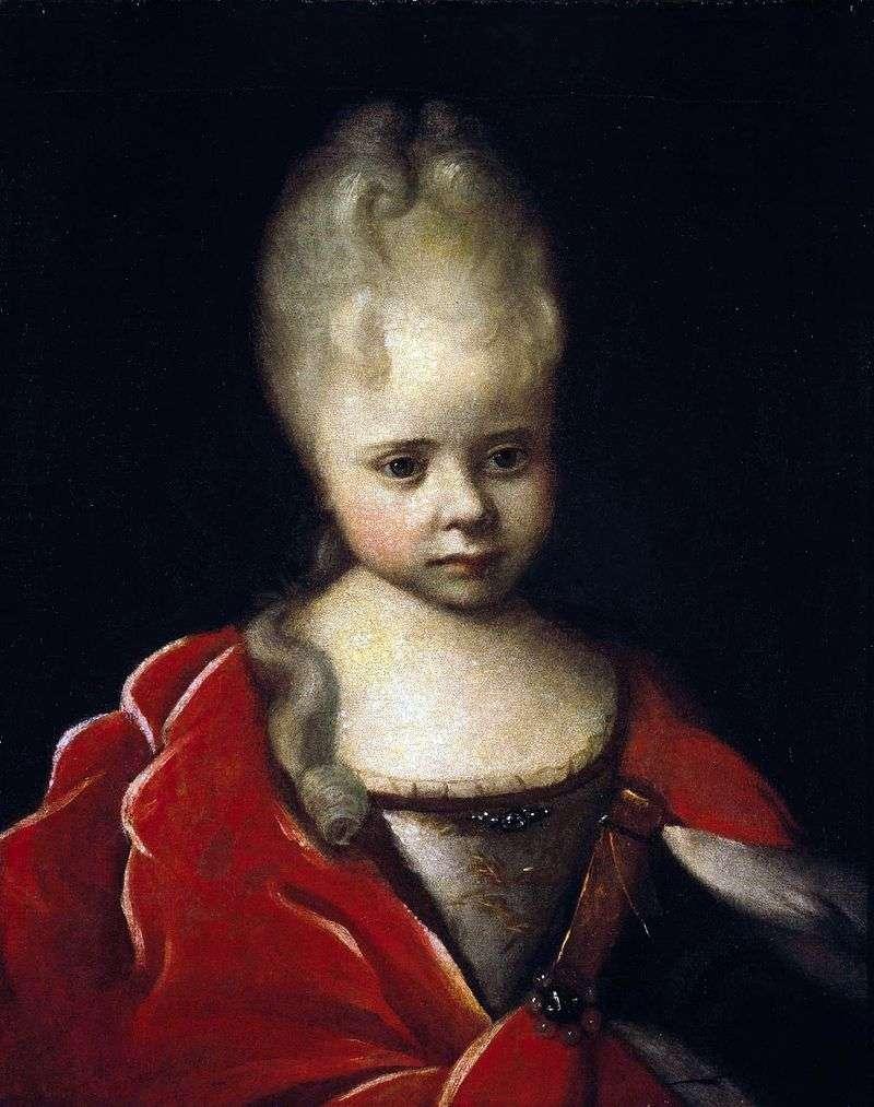 Portret Elizabeth Petrovna jako dziecko   Ivan Nikitin