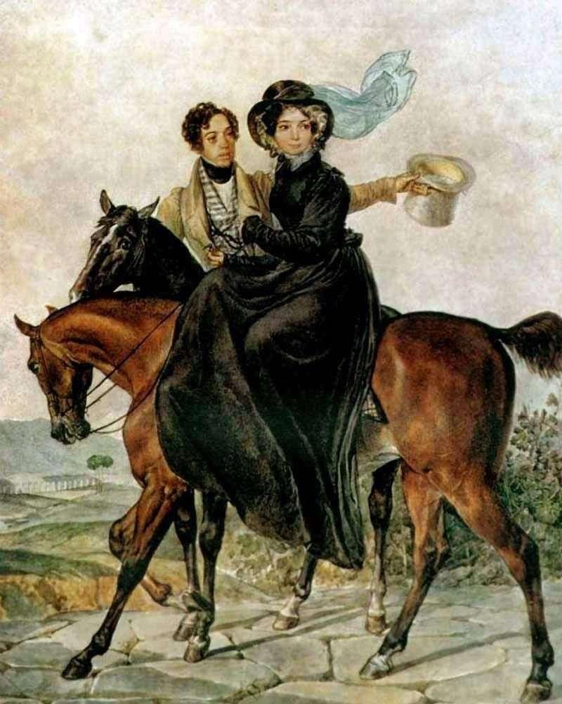 Portret K. A. i M. Ya. Naryshkin   Karl Bryullov