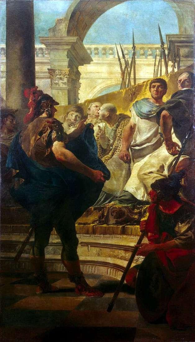 Quintus Fabius Maxim w Senacie Kartaginy   Giovanni Battista Tiepolo