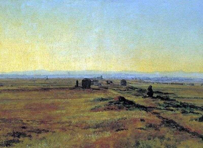 Droga Appiańska o zachodzie słońca   Aleksander Iwanow