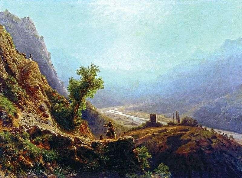 W górach Kaukazu   Lew Lagorio