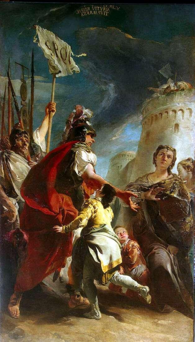 Coriolanus pod murami Rzymu   Giovanni Battista Tiepolo