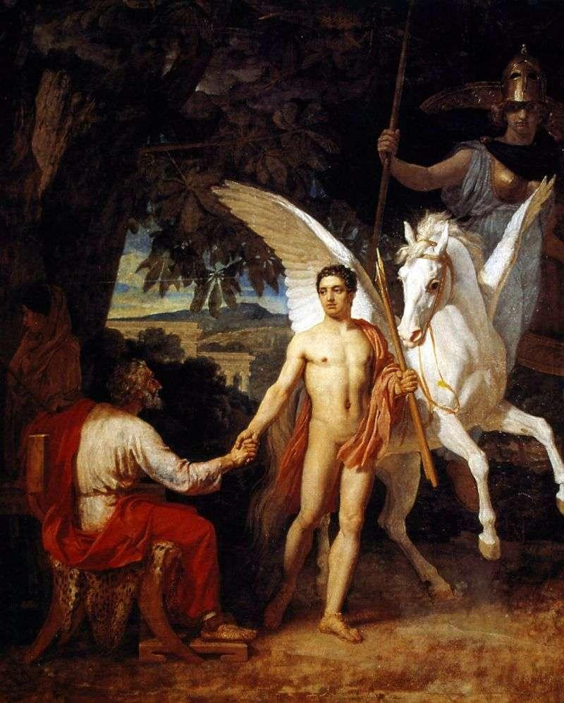 Bellerophon idzie na kampanię przeciwko Chimera   Aleksander Iwanow
