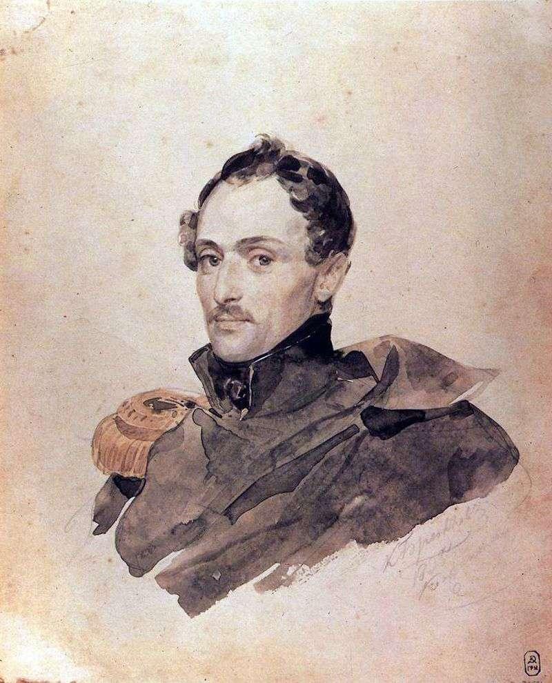 Portret kapitana B. Kosteckiego   Karl Bryullov