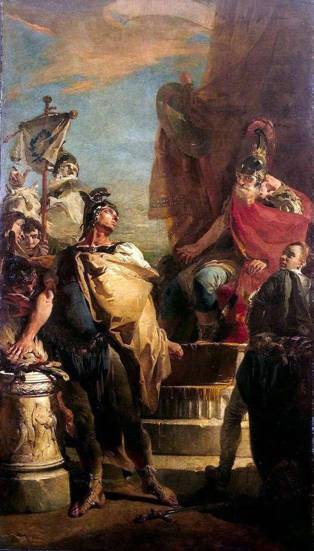 Muzio Scovola w obozie Porsenna   Giovanni Battista Tiepolo
