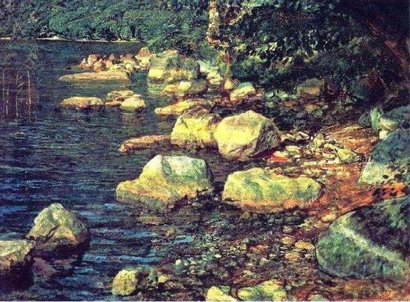 Woda i kamienie pod Palazzuolo, niedaleko Florencji   Aleksander Iwanow