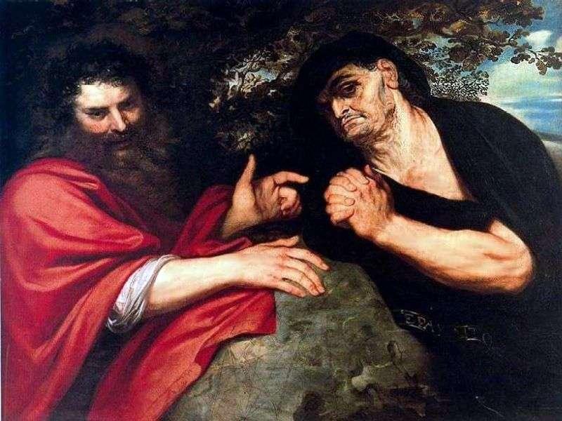 Demokryt i Heraklit   Peter Rubens