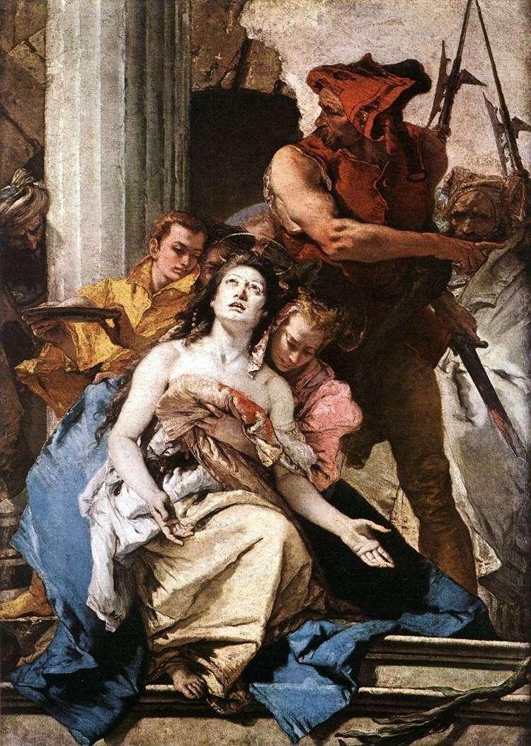 Męczeństwo sv. Agatha   Giovanni Battista Tiepolo