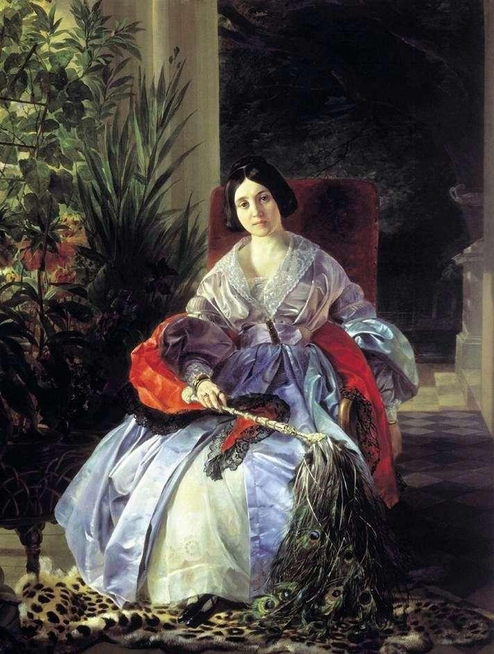Portret księżnej E. P. Saltykowskiej   Karla Bryulłowa