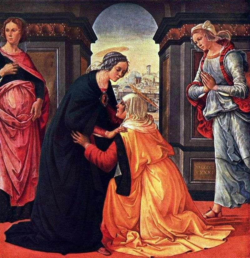 Spotkanie Marii i Elżbiety   Domenico Ghirlandaio