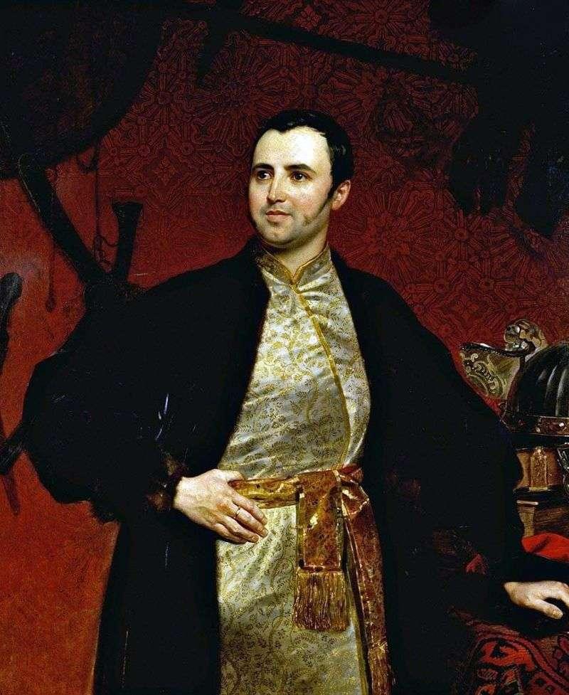 Portret księcia M. A. Obolensky   Karl Bryullov