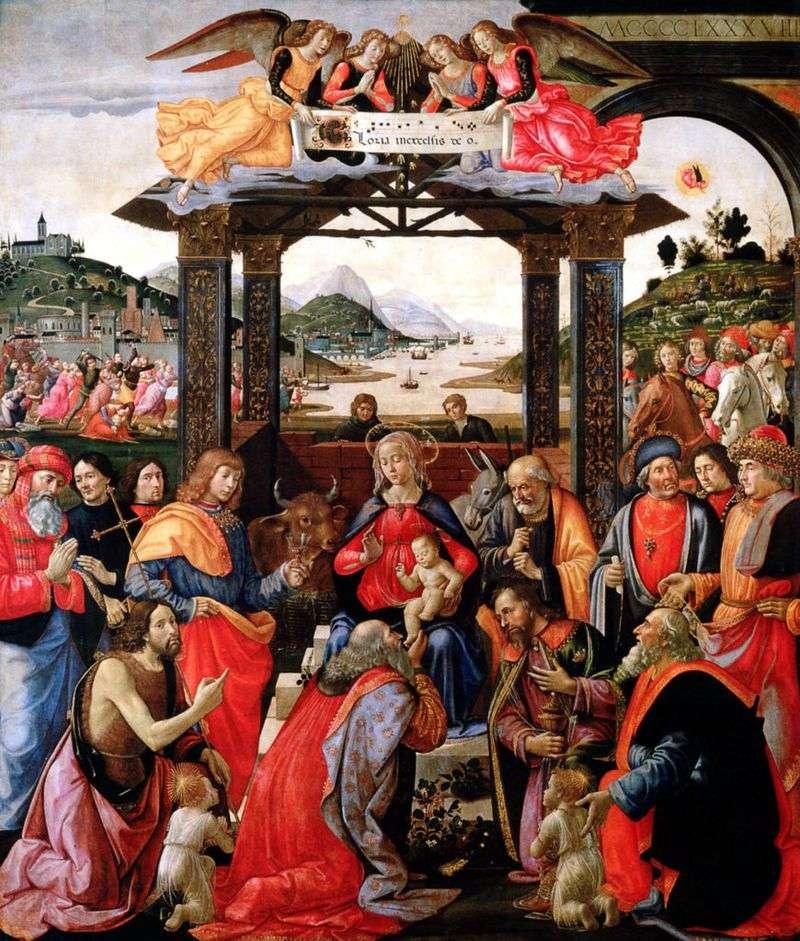 Pokłon Trzech Króli   Domenico Ghirlandaio