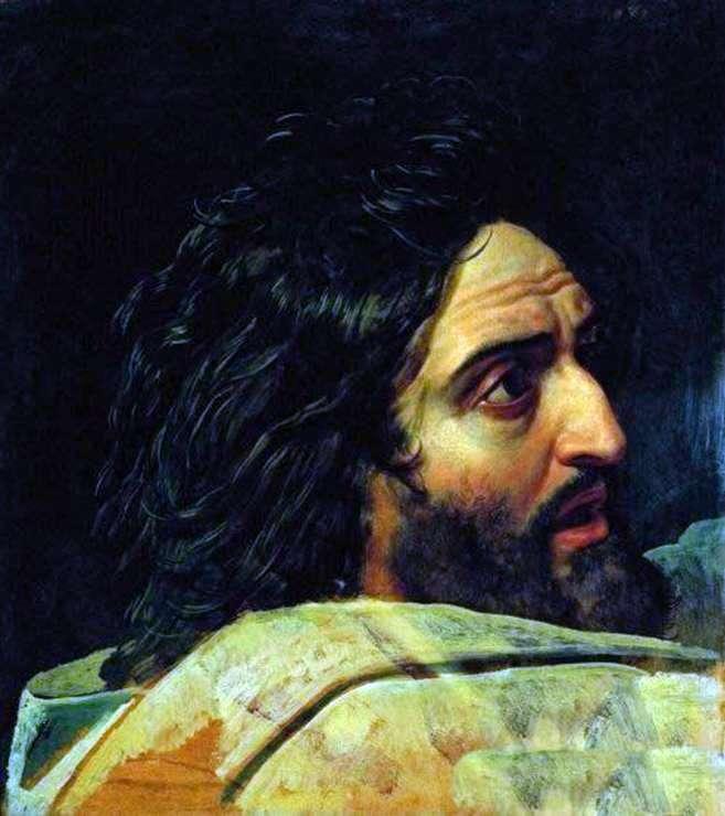 Wizerunek Jana Chrzciciela. Fragment obrazu   Aleksander Iwanow