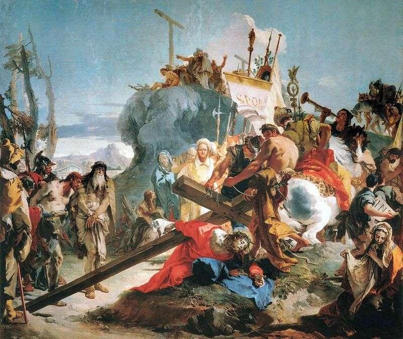 Przenoszenie Krzyża   Giovanni Battista Tiepolo