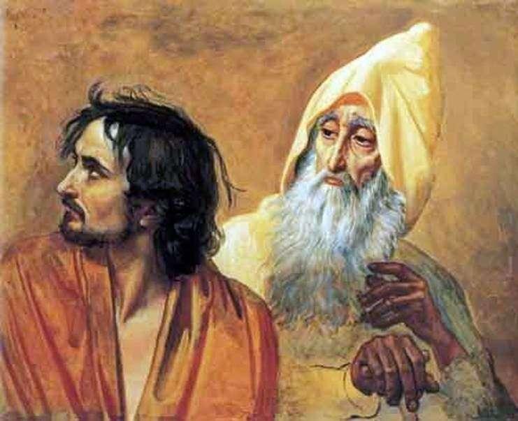 Obraz skruszonego grzesznika (N. V. Gogol). Fragment obrazu   Aleksander Iwanow
