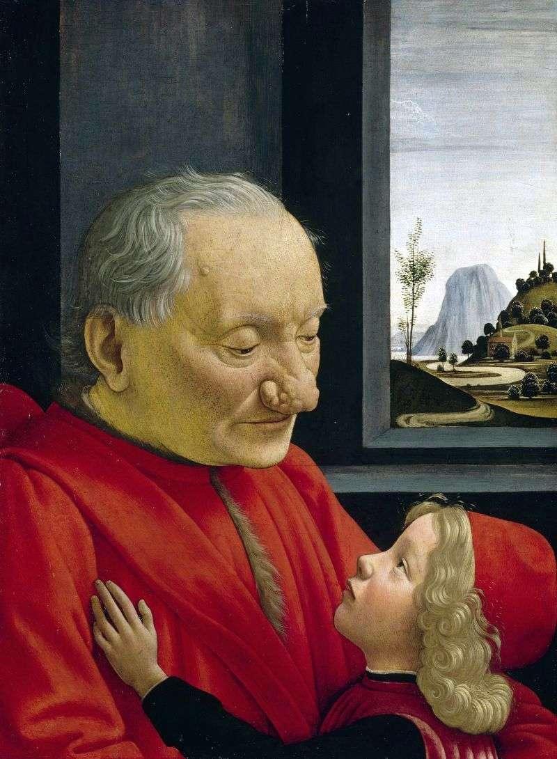 Portret starego człowieka z wnukiem   Domenico Girlandaio